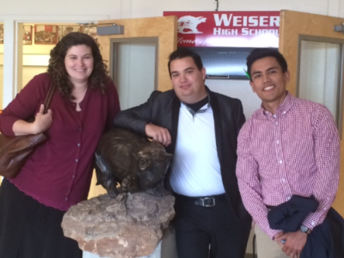 PTECH staff in the field: Molly Huckaby, Ryan Zimmerle, Noe Zepeda