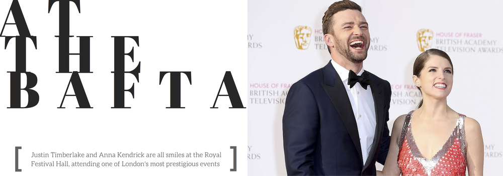 At The BAFTA: Justin Timberlake and Anna Kendrick Troll Along