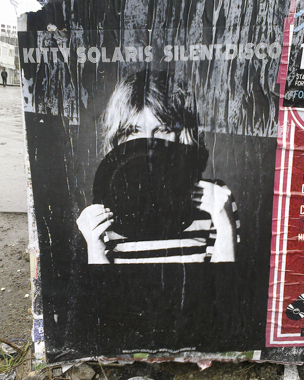 In Berlin one has to be fast to take a glimpse of posters; they are covered up with new ones on a daily basis. It's a dog eat dog world in the concert promotion realm.