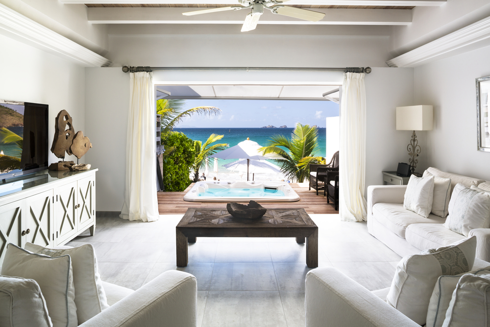 Hotel Saint-Barth Isle De France Beach Villa Living Room.jpg