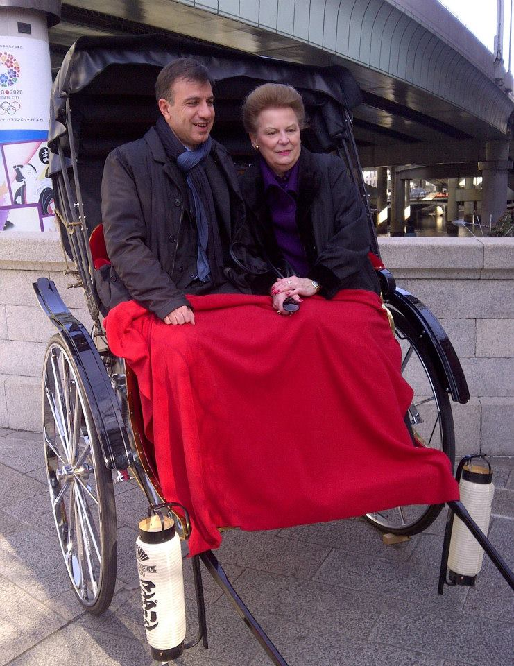 zValerie Ann Wilson exploring Tokyo on Rickshaw with Tony Costa, General Manager of Mandarin Oriental, Tokyo.jpg