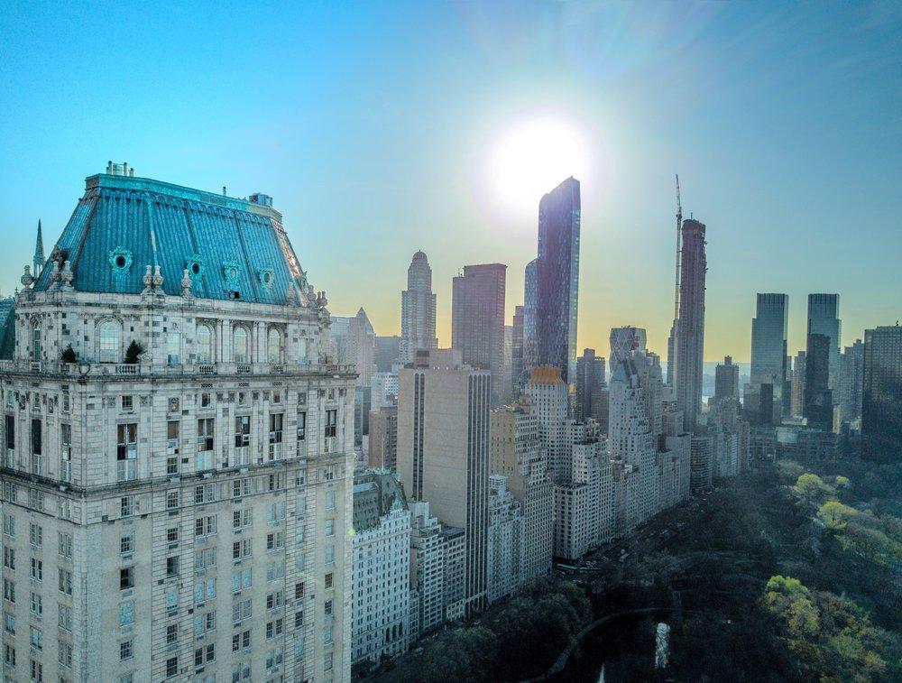 The Pierre, A Taj Hotel  ExteriorSunset.jpg