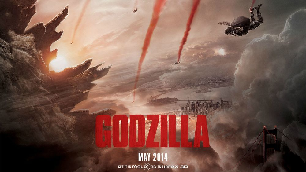 Even early teaser posters for  Godzilla  emphasized the single hero over the prominence of the monster and its carnage.