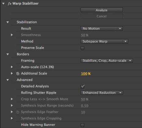 Smooth operators  Understanding Adobe Premiere's Warp Stabilizer