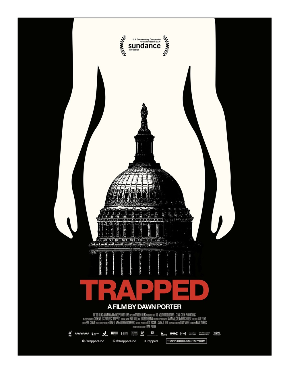 Poster from  Trapped,  a film by Dawn Porter. Film Sprout helped create a grassroots campaign for the film.