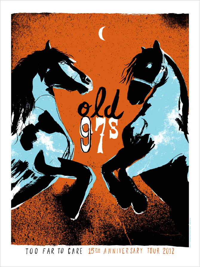 Finished Old 97's poster design.