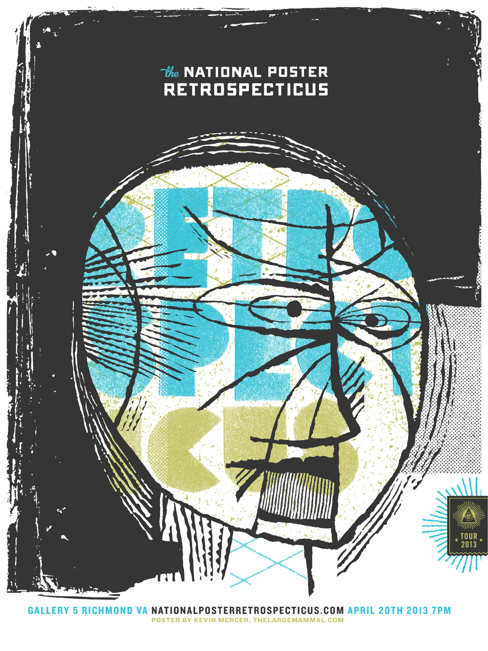 National Retrospecticus poster. Kickstarter  here . Process post  here .