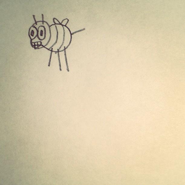 I draw bees.