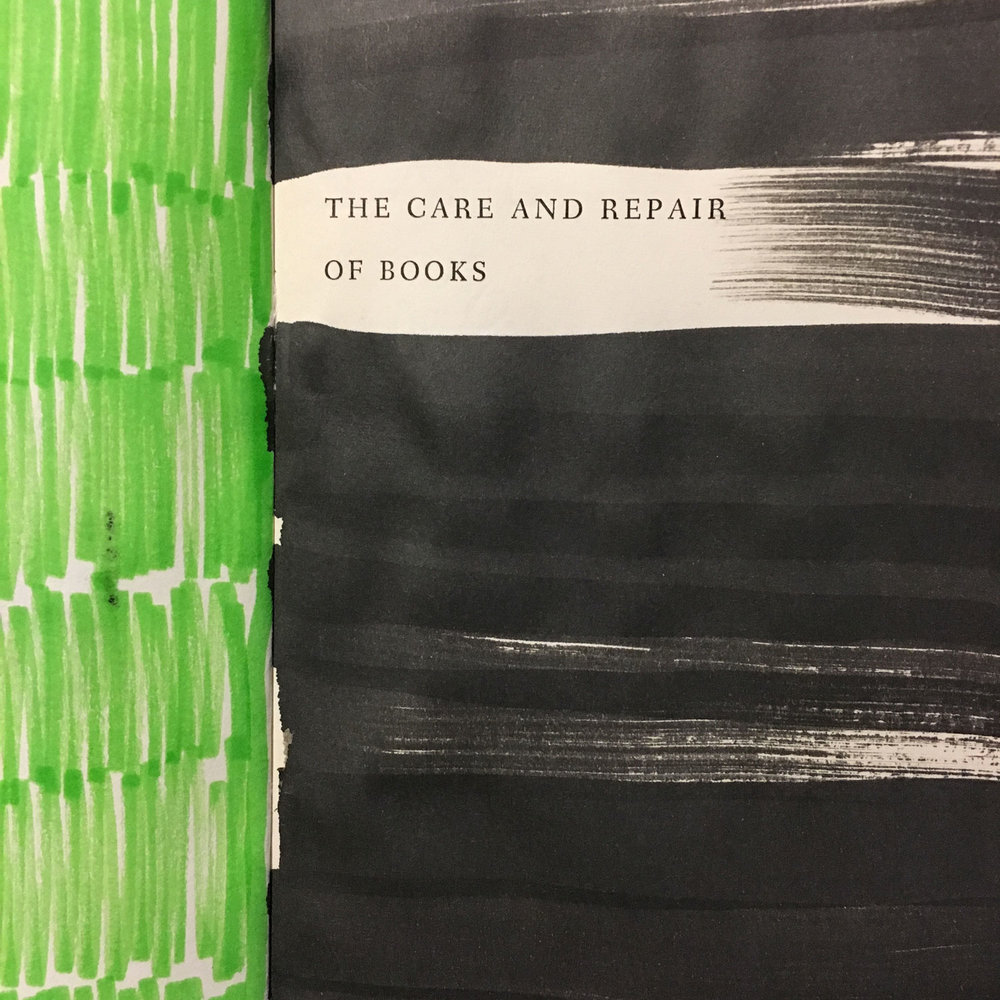 The Care and Repair of Books