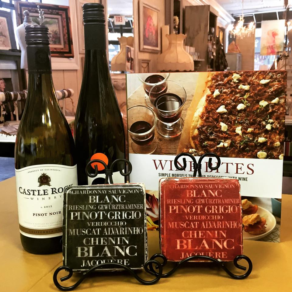 Looking for last minute gift? Wine bites book with vintage wine coaster...what a perfect idea for this Holiday? Don't just bring a bottle of wine to the party...be a little more creative