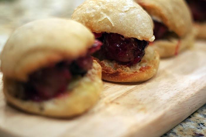 turkey meatballs with sage, caramelized onion & cranberry glaze ...