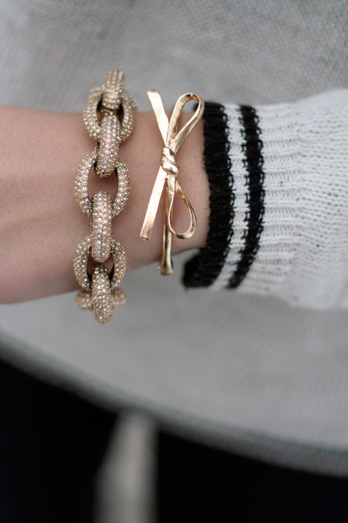 Bracelets: JCrew & T&J Designs