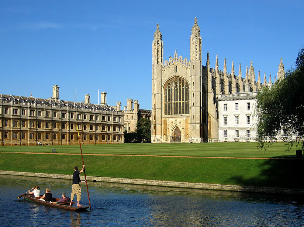 The view of Kings College Chapel West.