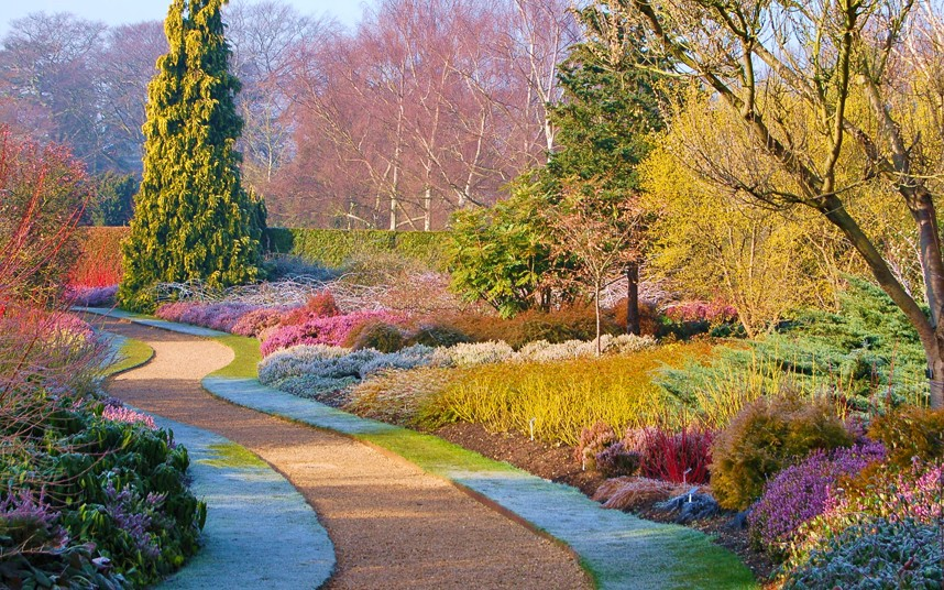 The beautiful Botanical Gardens with a layer of Autumn Frost.