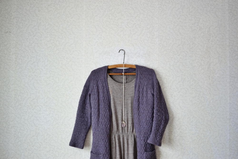 my very first knitted cardigan praline.JPG