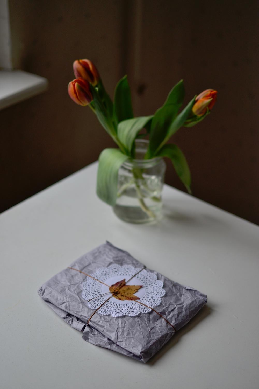 tulips and gift.JPG