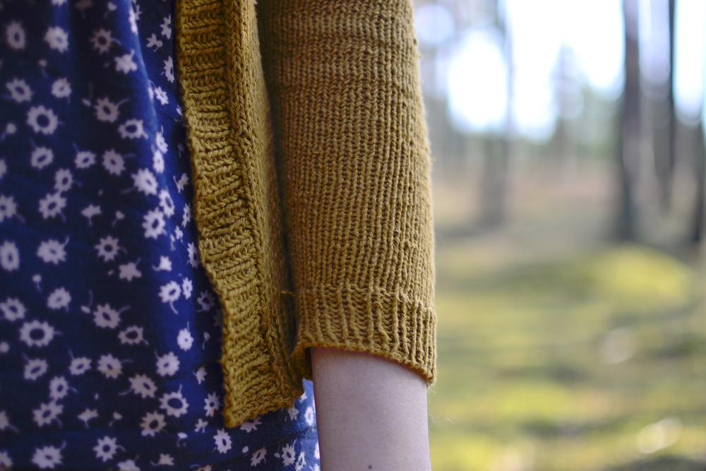 heathered cardigan sleeve.JPG