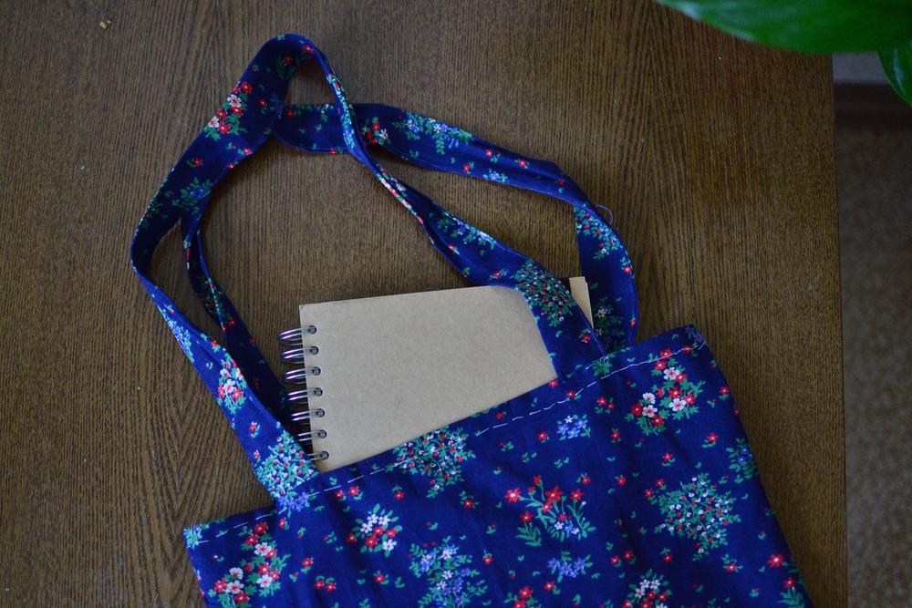 Hand sewn liberty bag