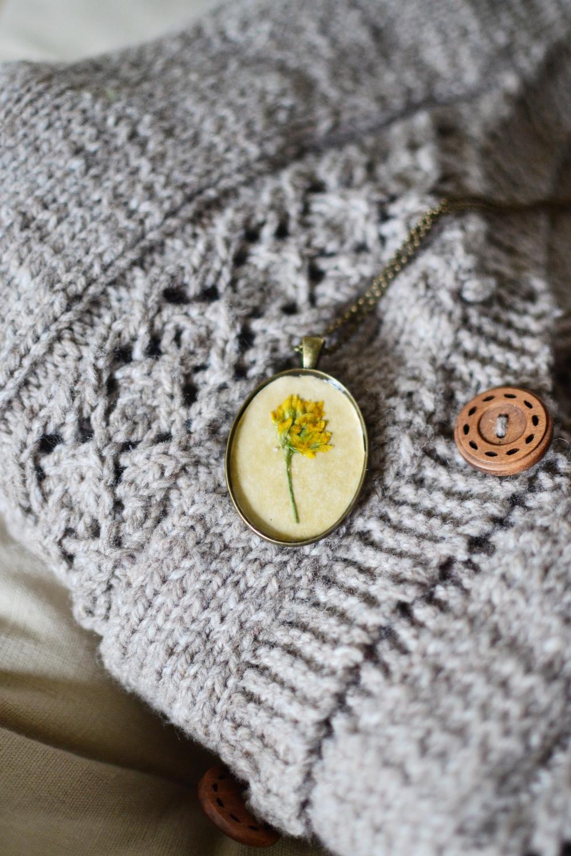 Botanical antique pendants