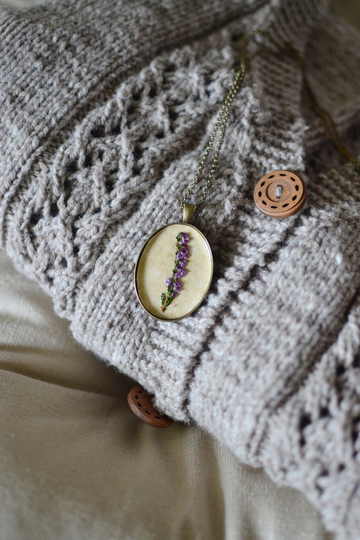 Woodland floral pendant