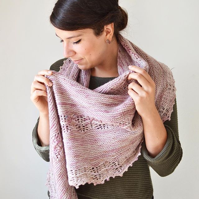 Honey Plum shawl