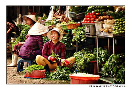 woman in market in Vietnam
