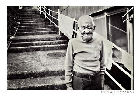 an old man in Nagasaki Japan