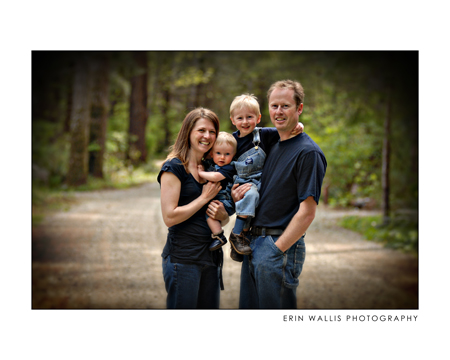 Quinsam Campground in campbell river family smiles