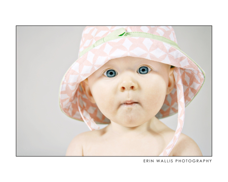 baby with blue eyes and cute hat