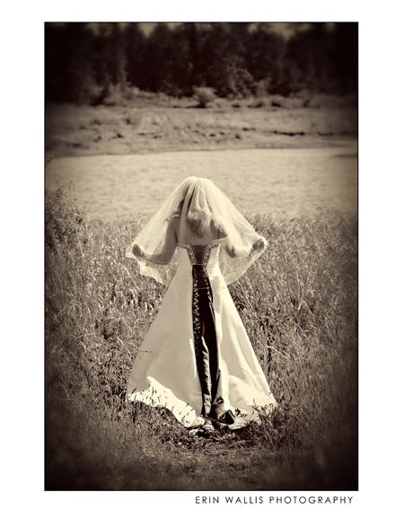 Bride in the grass