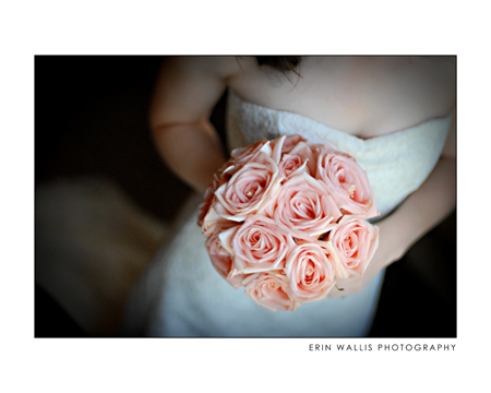 Bride with Pink Roses in Campbell River