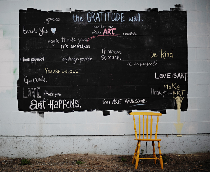 Campbell River Gratitude Wall