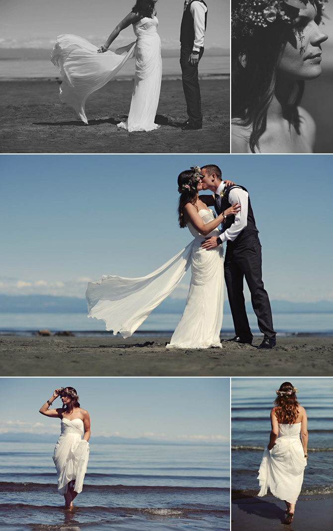 bride groom beach wedding