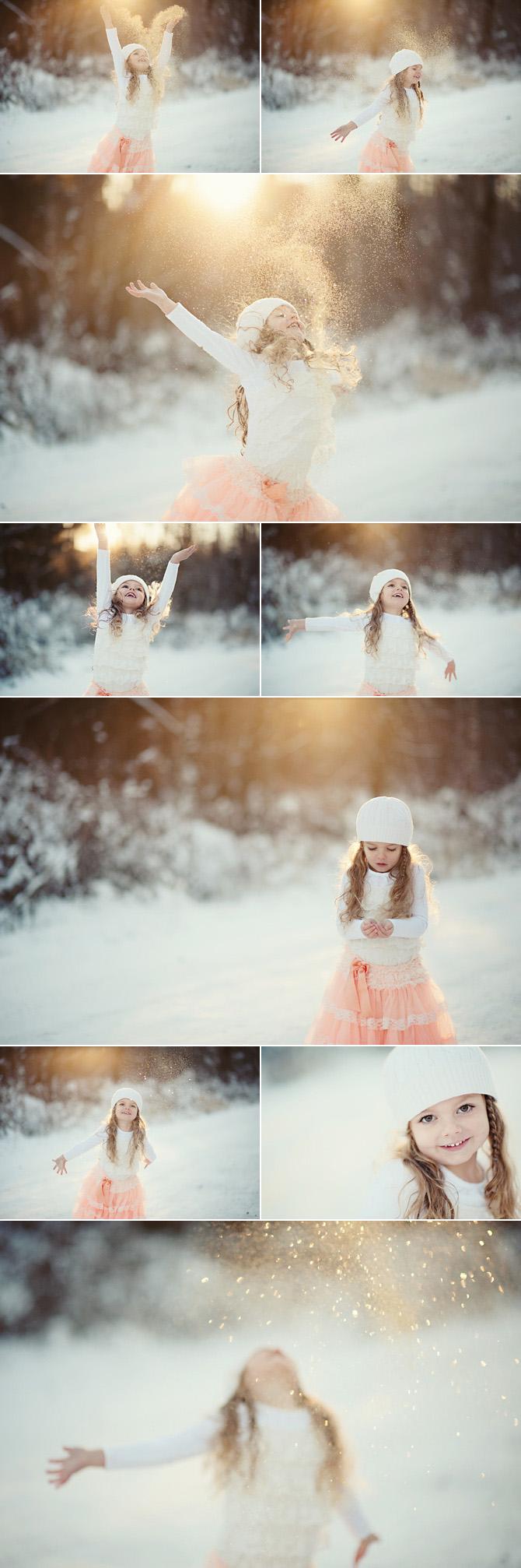 glitter girl snow