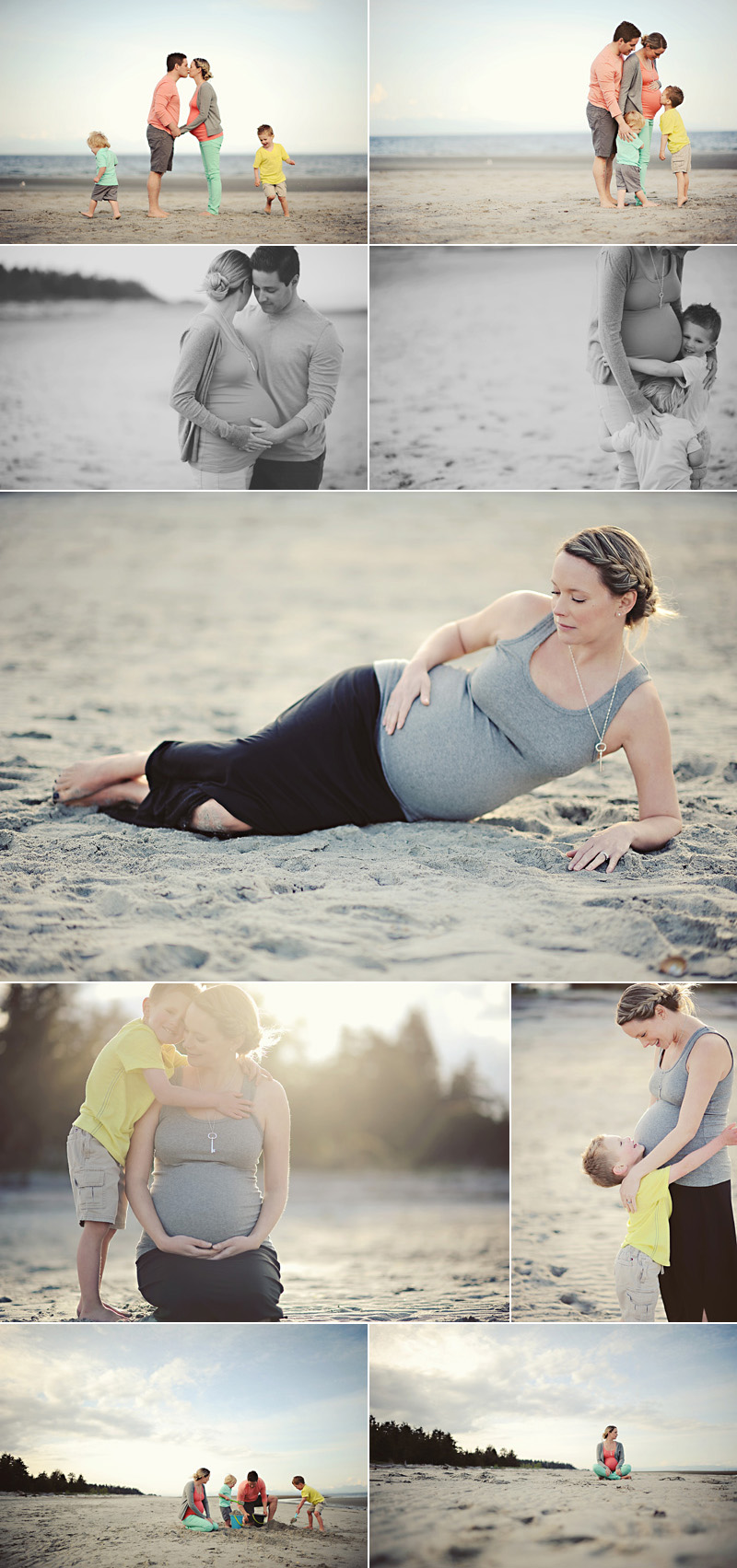 outdoor maternity beach photos