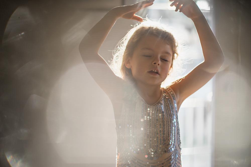 little girl in the light