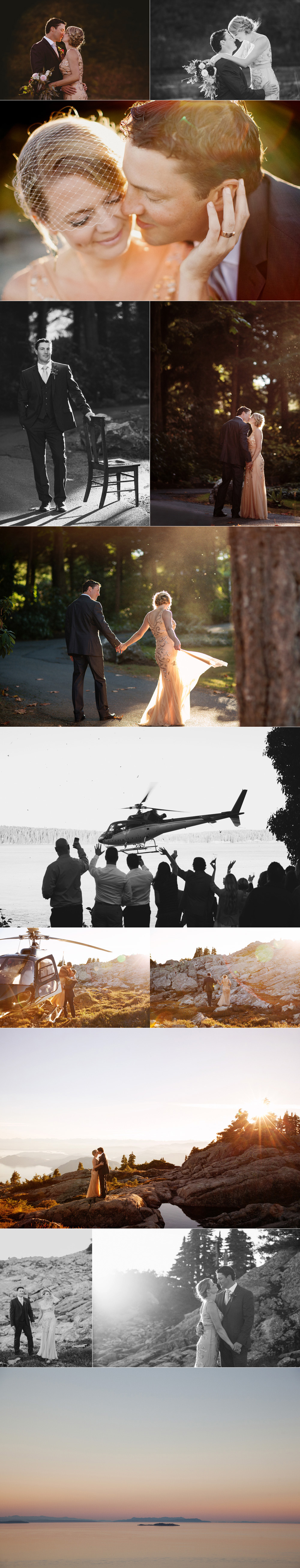 helicopter wedding photos