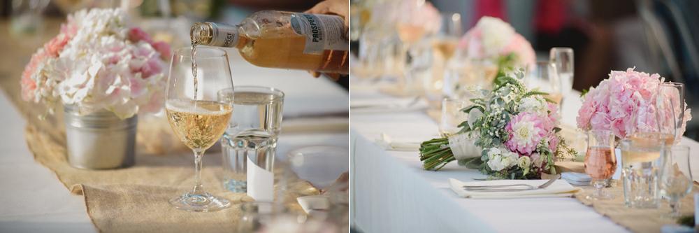wedding reception blush