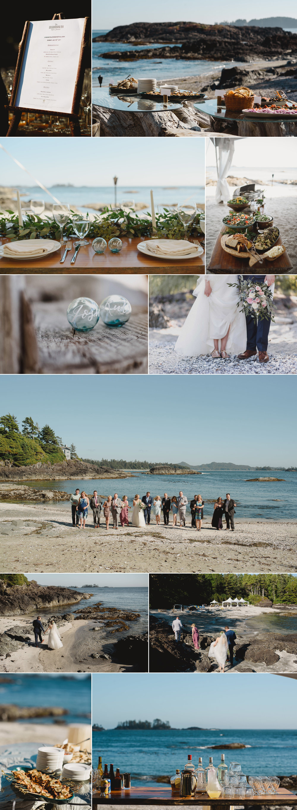 Wickaninnish Inn wedding, shell beach, elopement, tofino, luxury beach wedding, private beach wedding tofino, private venue, private tofino venue