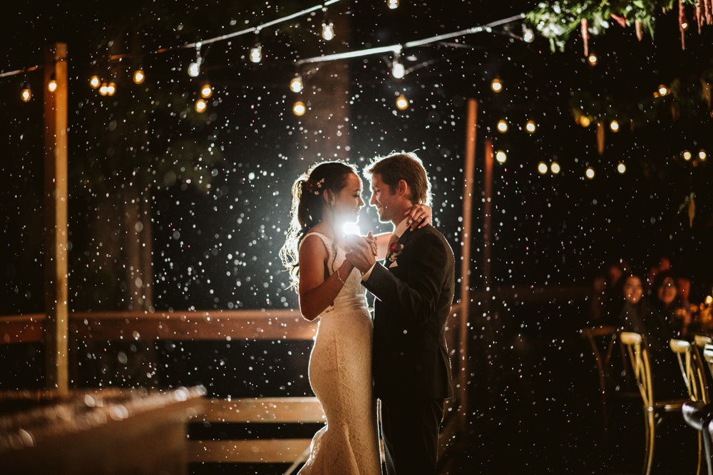 first dance in the rain