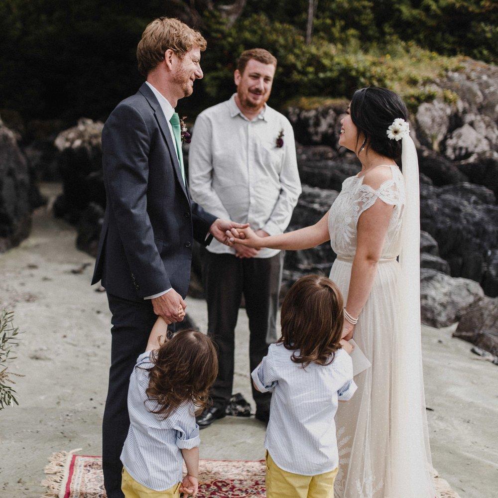 Tofino+beach+wedding