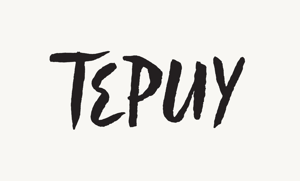 Branding for Tepuy, a series of pop-up dinners by Chef Adriana Urbina.