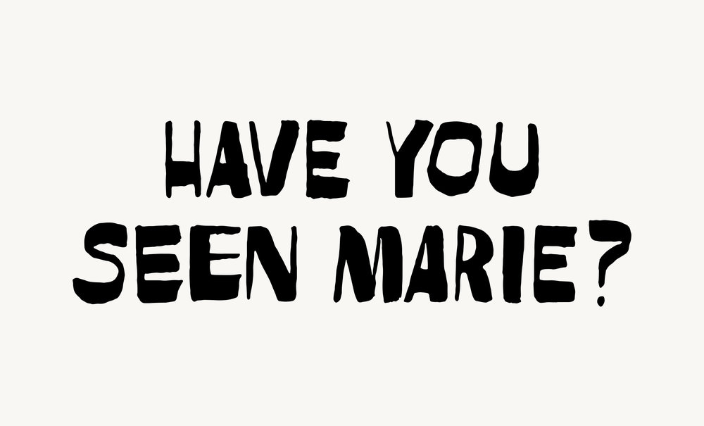 Unused lettering for Have you seen Marie? by Sandra Cisneros