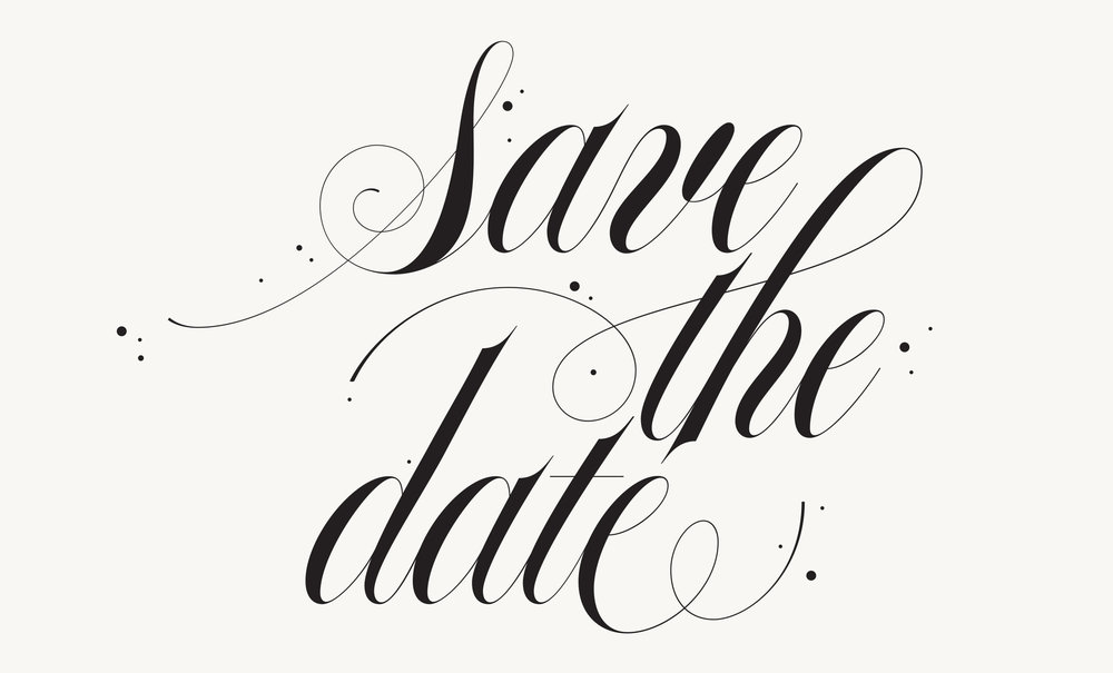 Spencerian lettering for wedding invites