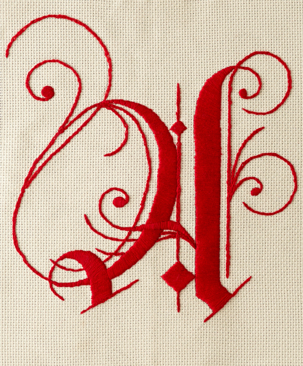 Embroidery for the cover of The Scarlet Letter by Nathaniel Russel. Part of Vintage Classics. Published by Vintage.