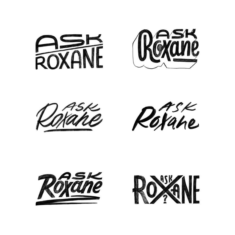 Sketches for Ask Roxane AD: Nathan Huang