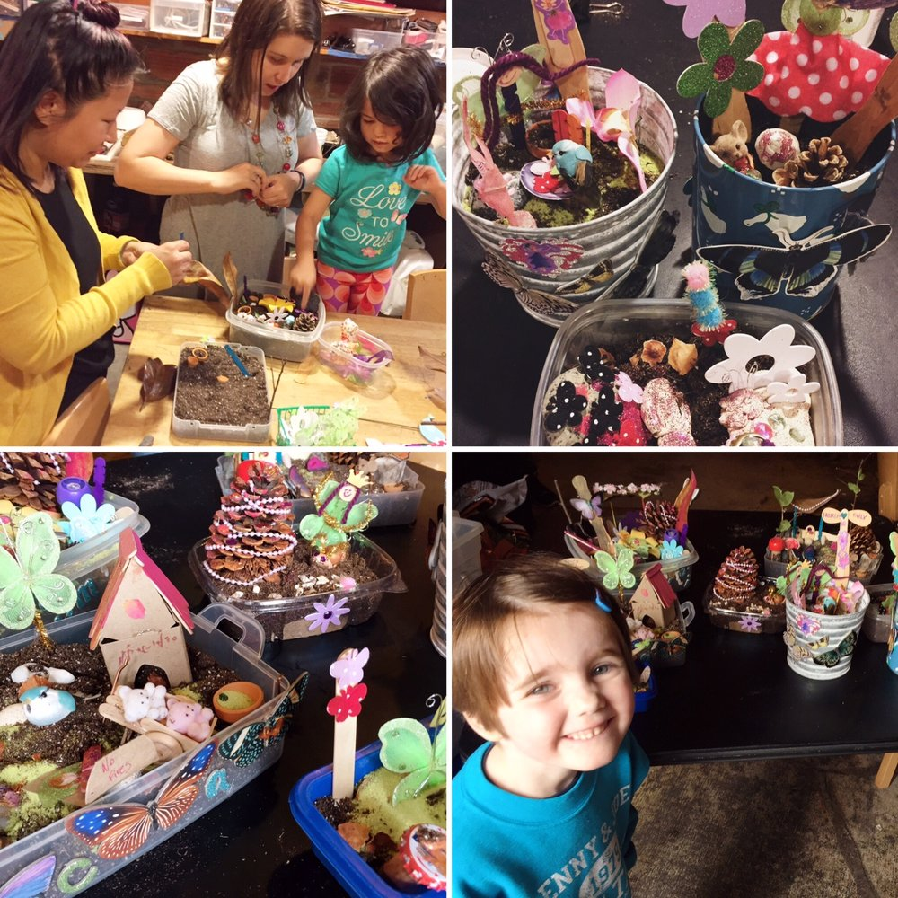 DIY Fairy Gardens for Families - Date: Saturday, July 21, 2:00 to 4:00pmCost: $15 first child/$10 siblings (caregiver included)Instructor: BarbaraUsing bits and bobs from our treasure-filled store, you will make an enchanted garden - perfect for fairy friends, critters, and creative play. All materials provided, including soil. This workshop is geared towards children ages 4+ with a caregiver.