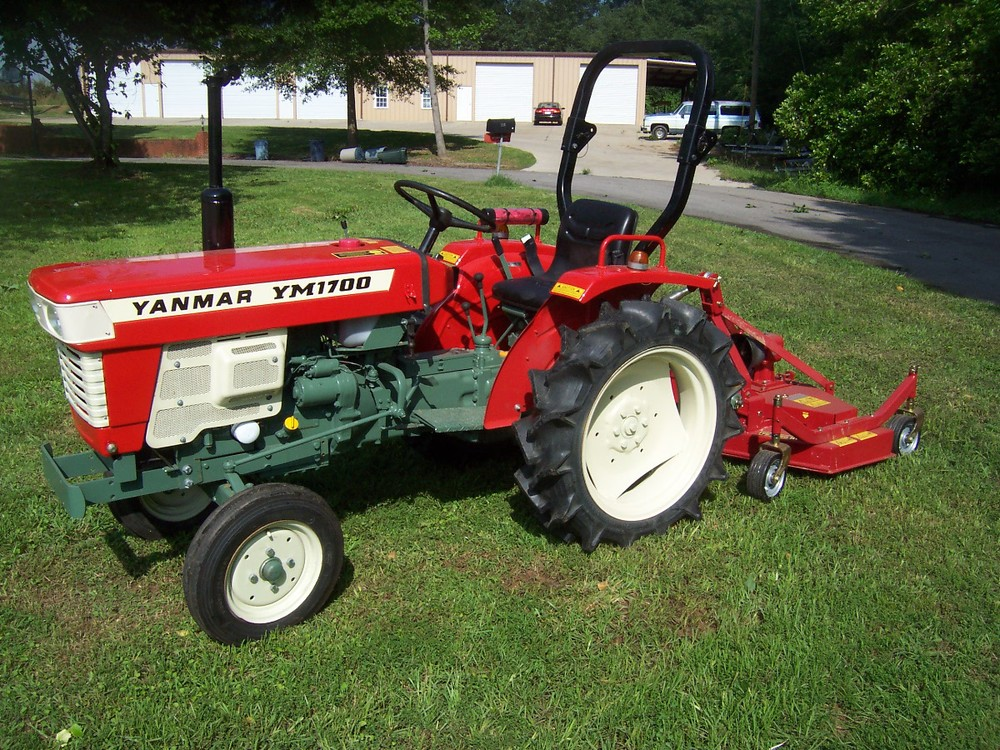 Yanmar YM 1700 20 hp, 2 cylinder diesel, 2wd, gear transmission, with ROPS (roll over protective structure). (Shown here with optional finishing mower.) $4,799 $5,999 4WD