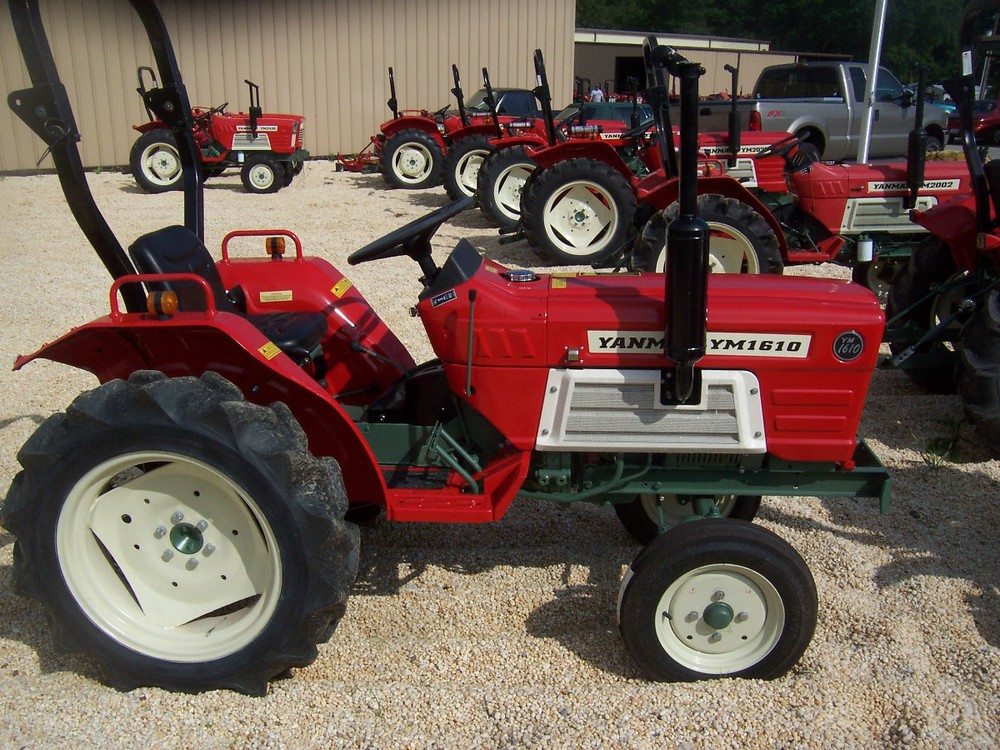 Yanmar YM 1610 19 hp, 3 cylinder diesel, 2wd, powershift transmission with ROPS (roll over protective structure). Built in 1980 and 1981. $5,199
