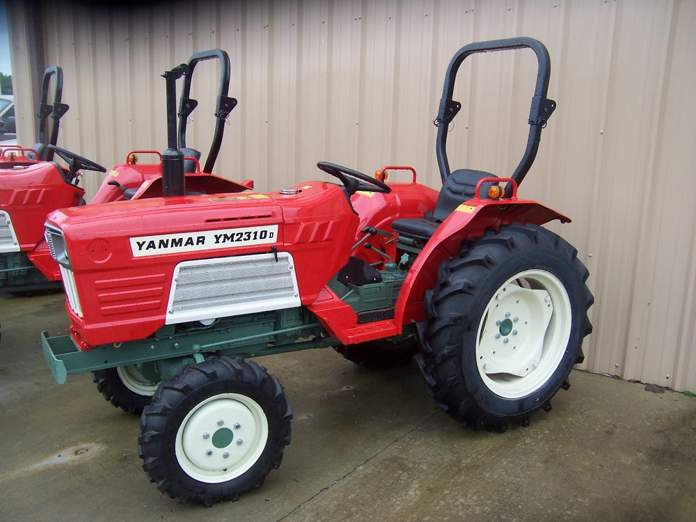 Yanmar YM 2310D  28 hp, 3 cylinder diesel, 4wd, powershift transmission with ROPS (roll over protective structure). Built in 1980 and 1981.   $7,599 $6,399 2WD